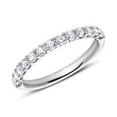 Memoire Ring 950er Platin 13 Diamanten