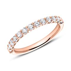 Memoire Ring 18K Roségold 13 Diamanten