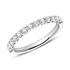 Memoire Ring 750er Weißgold 13 Diamanten