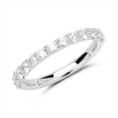 950er Platin Eternity Ring 13 Brillanten