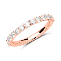 585er Roségold Eternity Ring 13 Brillanten