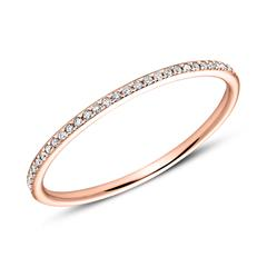 Memoire Ring 750er Roségold Diamanten