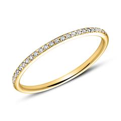 Memoire Ring 585er Gold 25 Diamanten