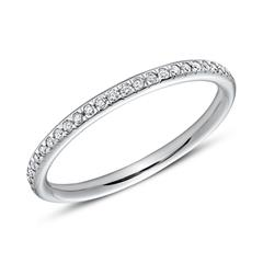 950er Platin Eternity Ring 25 Diamanten