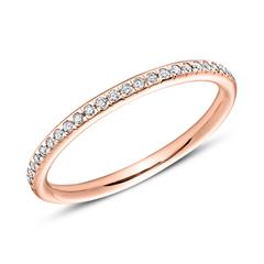 585er Roségold Eternity Ring 25 Diamanten