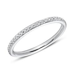 750er Weißgold Eternity Ring 25 Diamanten