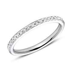 14K Weißgold Eternity Ring 2Diamant