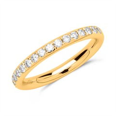 Eternity Ring 18K Gold 17 Diamanten