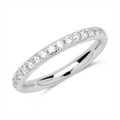 Eternity Ring 950er Platin 17 Diamanten