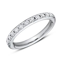 950er Platin Half Eternity Ring 13 Diamanten