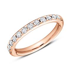 14K Roségold Eternity Ring 13 Diamanten