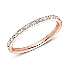 750er Roségold Eternity Ring 44 Brillanten