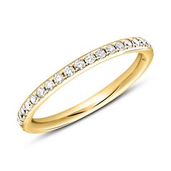Memoire Ring 750er Gold 39 Diamanten