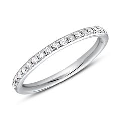 Memoire Ring 950er Platin 39 Diamanten