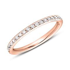 Memoire Ring 750er Roségold 39 Diamanten