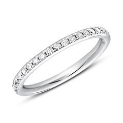 Memoire Ring 585er Weißgold 39 Diamanten