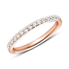750er Roségold Ring Eternity 37 Diamanten