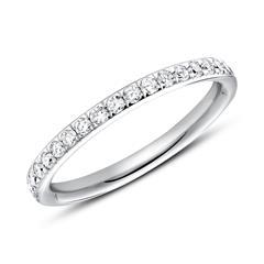 585er Weißgold Ring Eternity 37 Diamanten