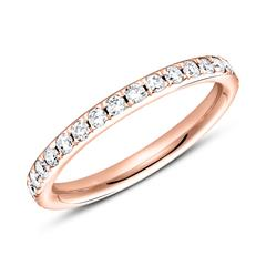 Eternity Ring 585er Roségold 33 Diamanten