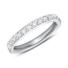 950er Platin Memoire Ring 28 Diamanten