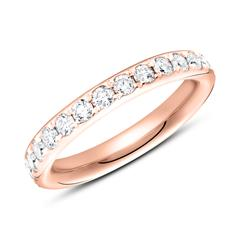 585er Roségold Eternity Ring 27 Diamanten