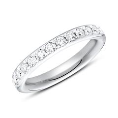 750er Weißgold Eternity Ring 27 Diamanten