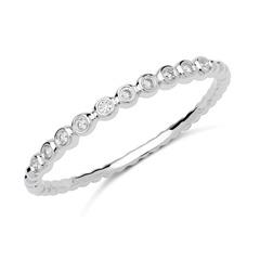 750er Weißgold Ring 10 Diamanten