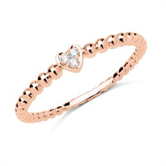 18K Roségold Damen Ring 3 Brillanten