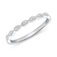 14ct White Gold Ring 14 Diamonds