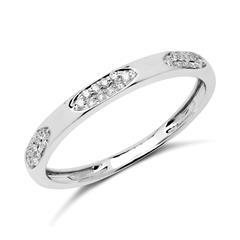 585er Weißgold Ring mit 30 Diamanten