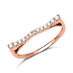 Ring 585er Roségold mit 13 Diamanten