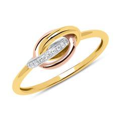 Ring aus 585er Gold tricolor mit Brillanten