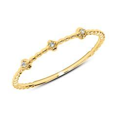 Ring aus 14K Gold mit Weißtopasen