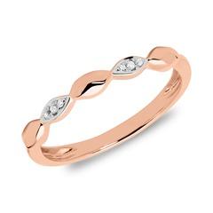 Ring aus 585er Roségold mit Diamanten