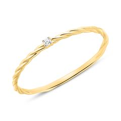 Ring For Ladies In 14K Gold With Diamond