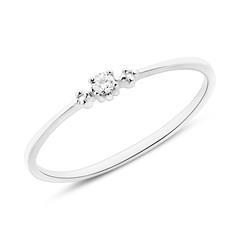 Diamond Ring For Ladies In 14K White Gold