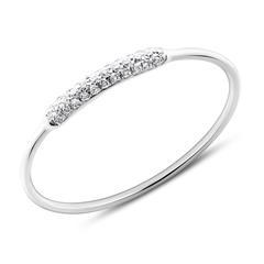 Damenring 585er Weißgold mit Diamanten
