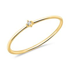 14K Gold Ring For Ladies With White Topaz