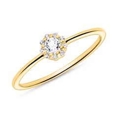 Topaz Ring For Women In 14-Carat Gold