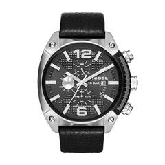 Zeitmesser Overflow schwarz Lederarmband