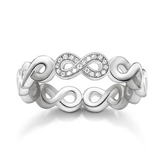 Infinity Ring Diamanten