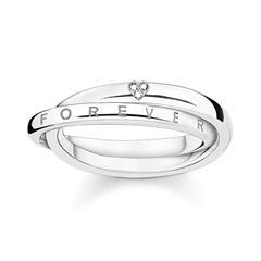 Ring Forever Together aus 925er Silber mit Diamanten