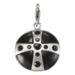 Charm Wishing Stone Carbon Black L
