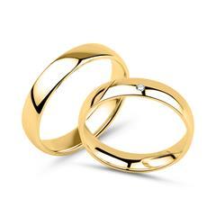 Gravierbare Trauringe aus 14-karätigem Gold mit Diamant