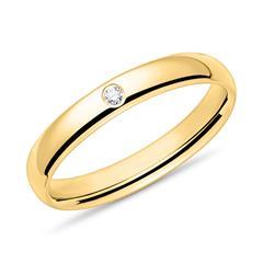 Ring für Damen aus 585er Gelbgold mit Brillant