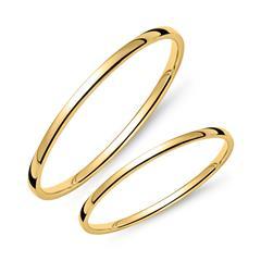 Eheringset aus 585er Gold