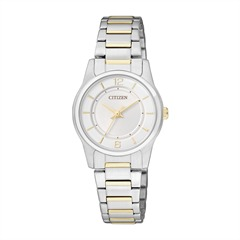 Citizen Basic Damenuhr gold silber ER0184-53A
