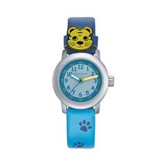 Armbanduhr Tatzen Blau für Kinder