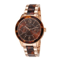 Uhr Marin Tortoise Rose Gold Brown
