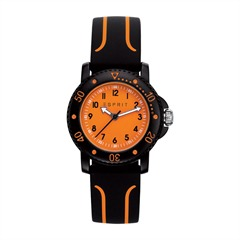 Esprit-Kinderuhr schwarz orange ES108334004